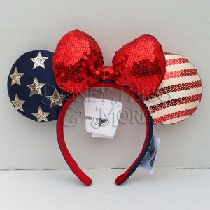 Disney Americana Stars & Stripes Ears Headband